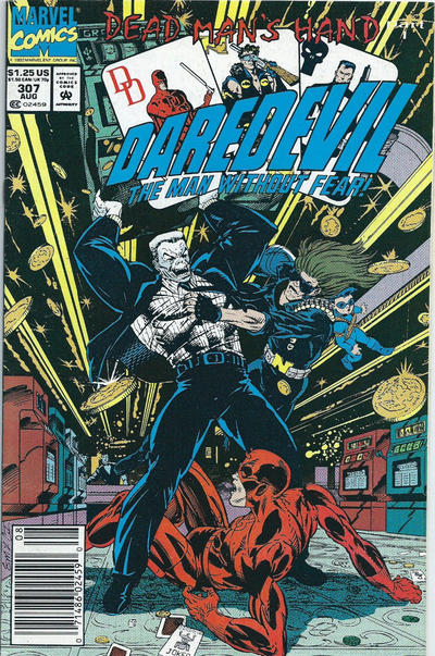 Cover for Daredevil (Marvel, 1964 series) #307 [Direct Edition]
