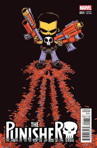 Cover Thumbnail for The Punisher (Marvel, 2016 series) #1 [Incentive Skottie Young Variant]