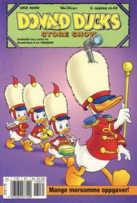 Cover Thumbnail for Donald Ducks Show (Hjemmet / Egmont, 1957 series) #42 [104] - Store show 2000 [Reutsendelse]