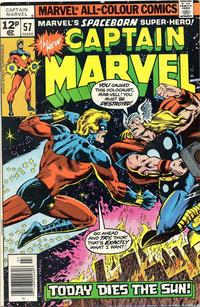 Cover Thumbnail for Captain Marvel (Marvel, 1968 series) #57 [British]