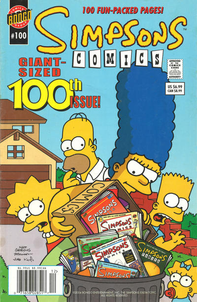 Cover for Simpsons Comics (Bongo, 1993 series) #100 [Direct Edition]