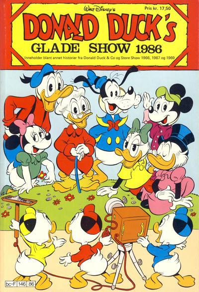 Cover for Donald Ducks Show (Hjemmet / Egmont, 1957 series) #[50] - Glade show 1986