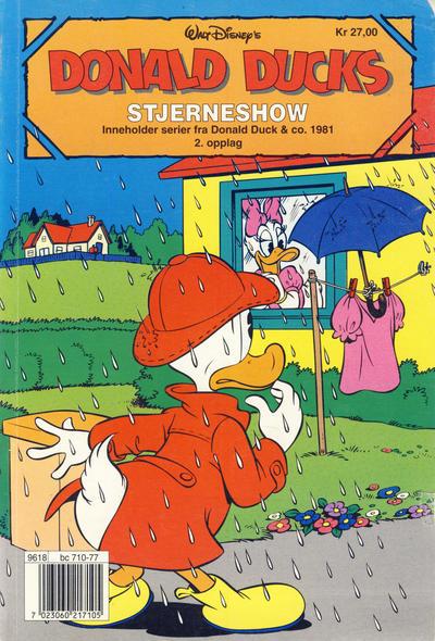 Cover for Donald Ducks Show (Hjemmet / Egmont, 1957 series) #[88] - Stjerneshow 1995 [Reutsendelse]