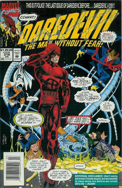 Cover for Daredevil (Marvel, 1964 series) #318 [Direct Edition]