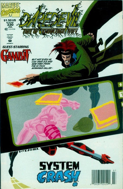 Cover for Daredevil (Marvel, 1964 series) #330 [Direct Edition]