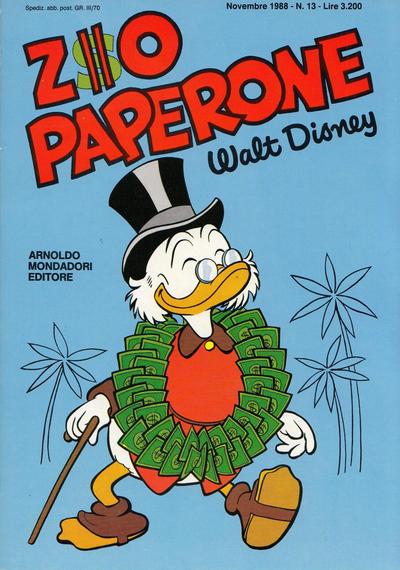 Cover for Zio Paperone (Arnoldo Mondadori Editore, 1987 series) #13