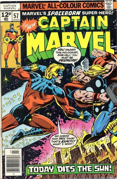 Cover for Captain Marvel (Marvel, 1968 series) #57 [Regular Edition]