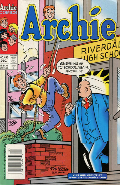 Cover for Archie (Archie, 1959 series) #490 [Direct]