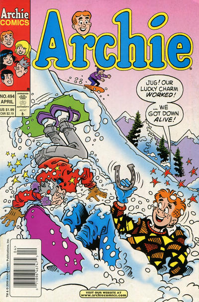Cover for Archie (Archie, 1959 series) #494 [Direct Edition]