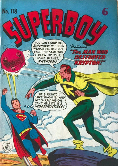 Cover for Superboy (K. G. Murray, 1949 series) #118