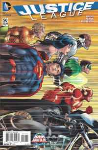 Cover Thumbnail for Justice League (DC, 2011 series) #50 [John Romita Jr. Cover Variant]