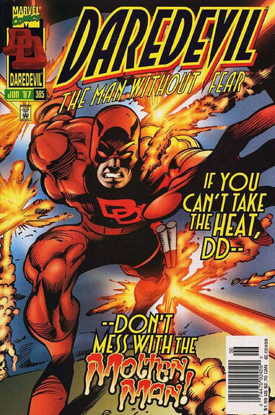 Cover for Daredevil (Marvel, 1964 series) #365 [Newsstand]