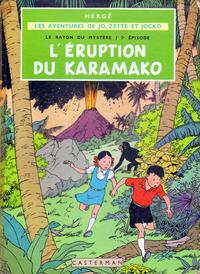 Cover Thumbnail for Les aventures de Jo, Zette et Jocko (Casterman, 1951 series) #4 - Le Rayon du Mystère 2e épisode: L'éruption du Karamako