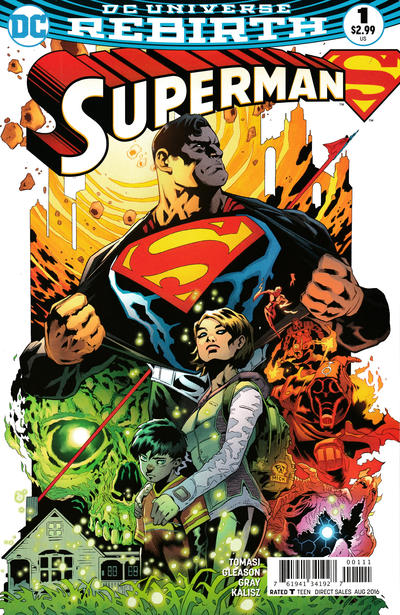 Cover for Superman (DC, 2016 series) #1 [Kenneth Rocafort Cover Variant]