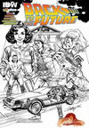 Cover for Back to the Future (IDW, 2015 series) #1 [Jscottcampbell.com Exclusive Sketch Cover]