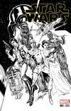 Cover Thumbnail for Star Wars (2015 series) #1 [4 Color Grails Exclusive J. Scott Campbell Black and White Variant]