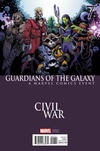 Cover Thumbnail for Guardians of the Galaxy (2015 series) #7 [Incentive Mark Bagley Civil War Variant]