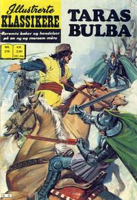Cover Thumbnail for Illustrerte Klassikere [Classics Illustrated] (Illustrerte Klassikere / Williams Forlag, 1957 series) #219 - Taras Bulba
