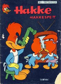 Cover Thumbnail for Hakke Hakkespett (Serieforlaget / Se-Bladene / Stabenfeldt, 1963 series) #5/1963