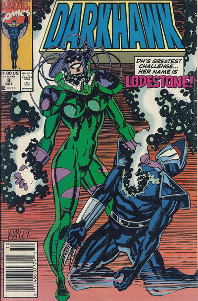 Cover for Darkhawk (Marvel, 1991 series) #8 [Newsstand]