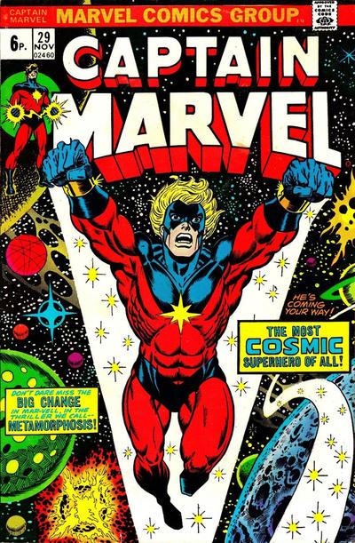 Cover for Captain Marvel (Marvel, 1968 series) #29