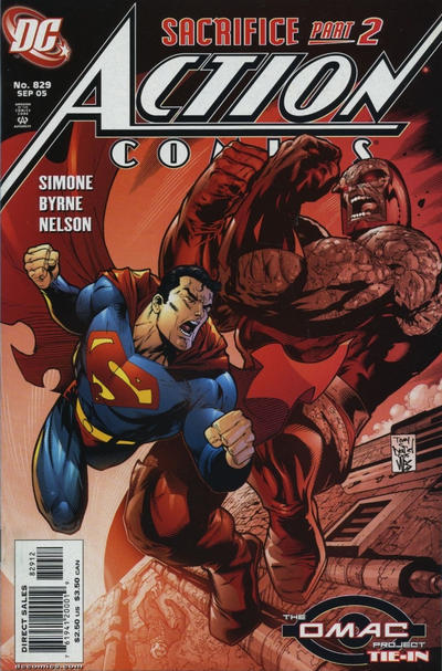 Cover for Action Comics (DC, 1938 series) #829 [Second Printing]