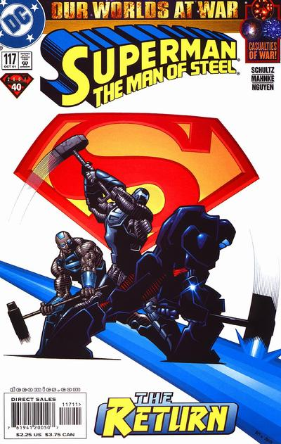 Cover for Superman: The Man of Steel (DC, 1991 series) #117 [Direct Edition]
