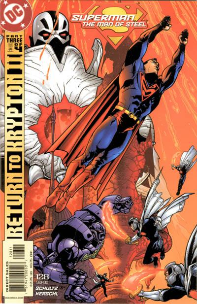 Cover for Superman: The Man of Steel (DC, 1991 series) #128 [Direct Edition]