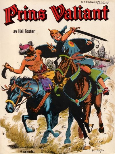 Cover for Prins Valiant (Semic, 1974 series) #1