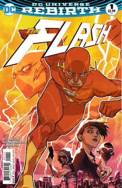 Cover for The Flash (DC, 2016 series) #1 [Karl Kerschl Cover]