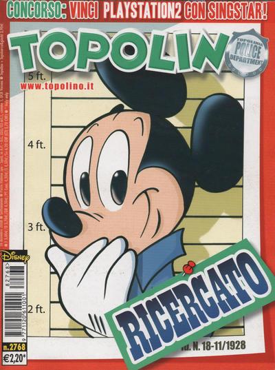 Cover for Topolino (The Walt Disney Company Italia, 1988 series) #2768