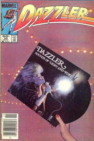 Cover for Dazzler (Marvel, 1981 series) #29 [Direct Edition]