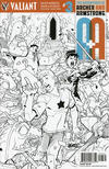 Cover for A&A: The Adventures of Archer & Armstrong (Valiant Entertainment, 2016 series) #3 [Cover F - David LaFuente - Black and White]
