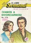 Cover for El Libro Semanal (Novedades, 1960 ? series) #1718