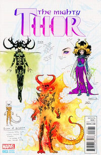 Cover Thumbnail for Mighty Thor (Marvel, 2016 series) #3 [Incentive Russell Dauterman Design Variant]