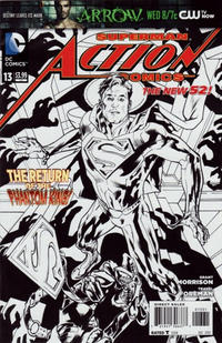 Cover Thumbnail for Action Comics (DC, 2011 series) #13 [Bryan Hitch Sketch Cover]