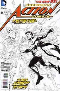 Cover for Action Comics (DC, 2011 series) #14 [Steve Skroce Variant Cover]