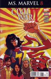 Cover Thumbnail for Ms. Marvel (Marvel, 2016 series) #8