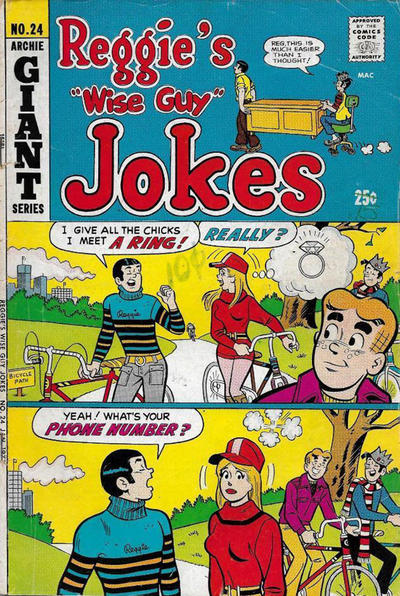 Cover for Reggie's Wise Guy Jokes (Archie, 1968 series) #24