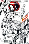 Cover Thumbnail for Spider-Man / Deadpool (2016 series) #1 [Variant Edition - Amazing! Comic Conventions - Rob Liefeld Black and White Cover]