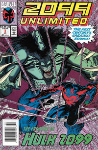 Cover Thumbnail for 2099 Unlimited (Marvel, 1993 series) #1 [Newsstand Edition]