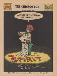 Cover Thumbnail for The Spirit (Register and Tribune Syndicate, 1940 series) #6/13/1943 [Chicago Sun Edition]
