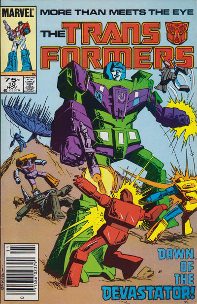 Cover for The Transformers (Marvel, 1984 series) #10 [Direct Edition]