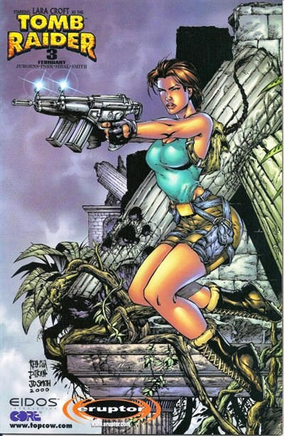 Cover for Tomb Raider: The Series (Image, 1999 series) #3 [Monster Mart Variant]