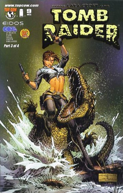Cover for Tomb Raider: The Series (Image, 1999 series) #9 [Dynamic Forces Gold Foil Variant]