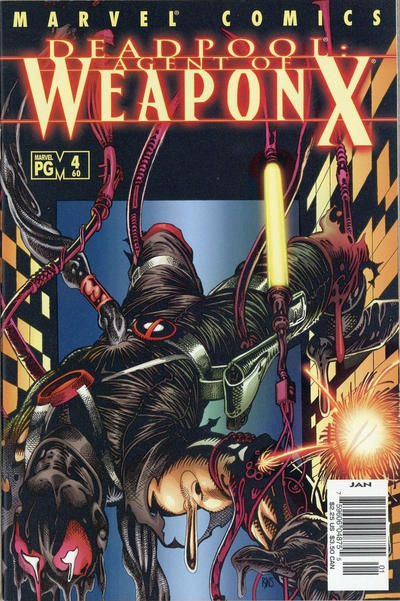 Cover for Deadpool (Marvel, 1997 series) #60 [Direct Edition]