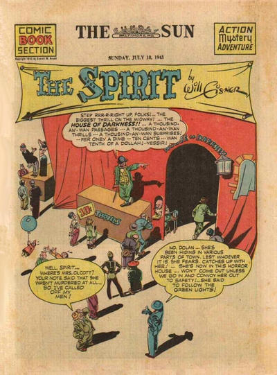 Cover for The Spirit (Register and Tribune Syndicate, 1940 series) #7/18/1943