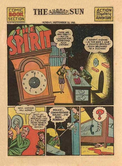 Cover for The Spirit (Register and Tribune Syndicate, 1940 series) #9/12/1943
