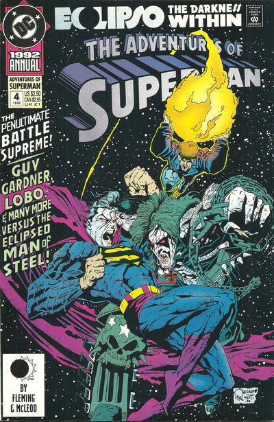 Cover for Adventures of Superman Annual (DC, 1987 series) #4 [Direct]
