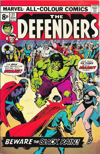 Cover for The Defenders (Marvel, 1972 series) #21 [Regular Edition]
